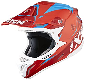 IXS HX 179 Flash Cross Casco de motocross Tri Composite – Rojo Azul