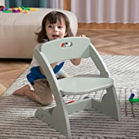 HOUCHICS Wooden Toddler Chair for Kids, Adjustable Kids Wood Chair & Playroom Stool for Bedroom, Children's Stool with…