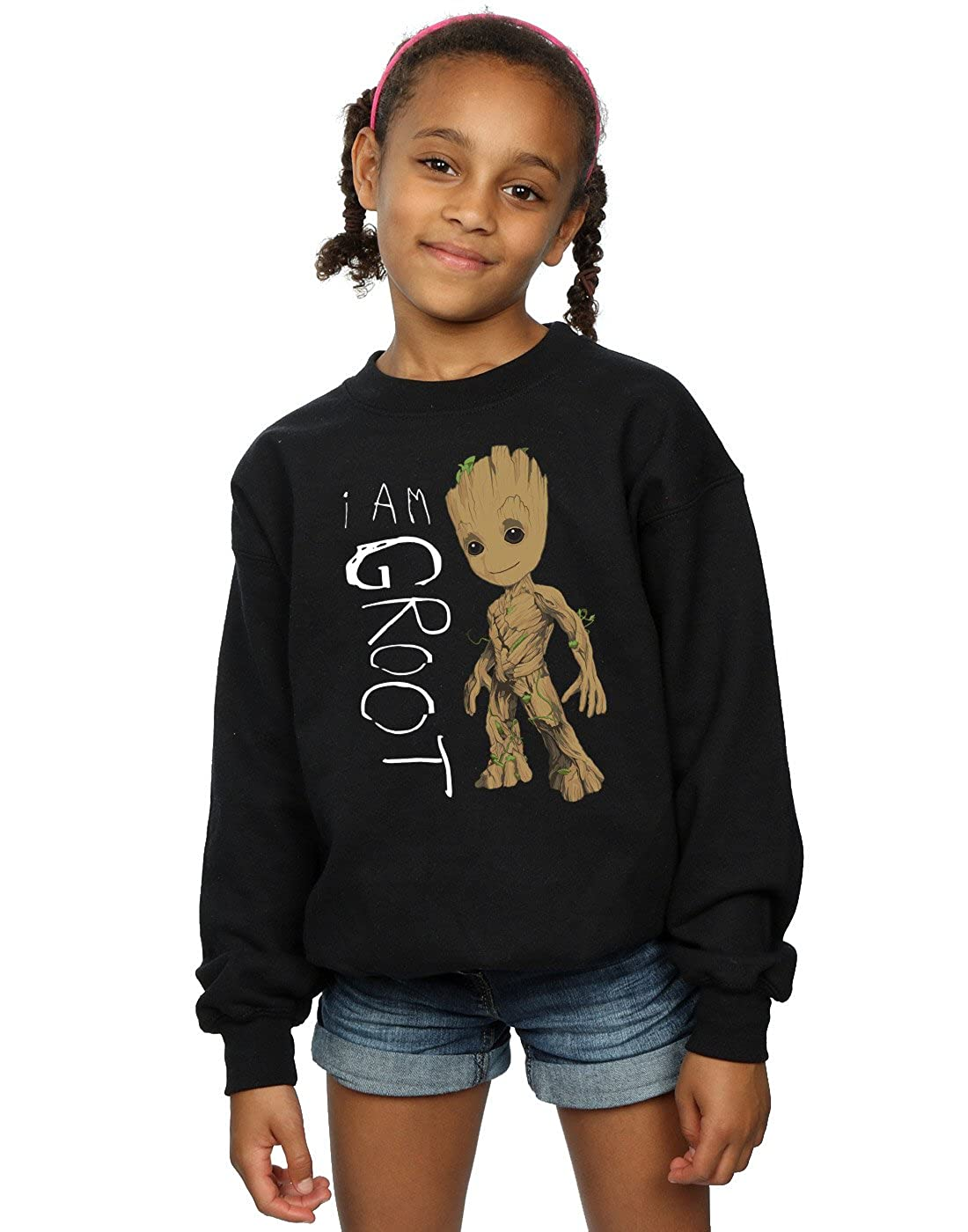 Marvel Girls Guardians of The Galaxy I Am Groot Scribbles Sweatshirt