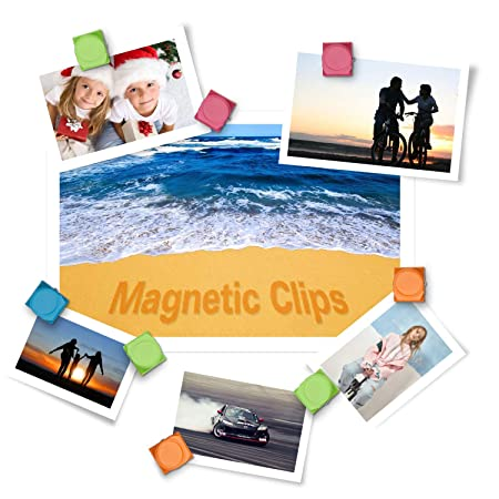 24 clips magnéticos de metal con clip de metal para colocar en la ...