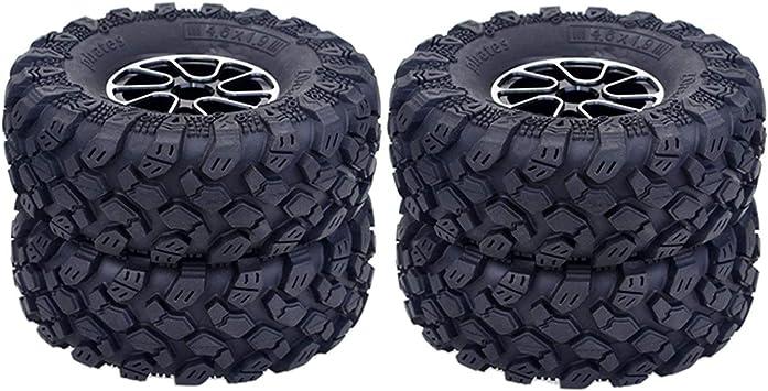 HONG YI-HAT 1.9 Pulgadas 4PCS Neumáticos 96MM Goma y ...