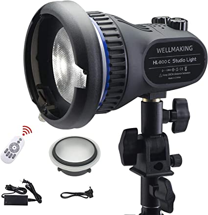 Amazon.com : Wellmaking 80W Portable LED Light Continuous Light COB Spotlight Video Light CRI 97+ Dimmable Lightweight Noiseless Fresnel Lens AC/DC Power Supply Bowens Mount Portable Light for Photography : Camera & Photo