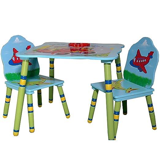 Kindertisch Mit 2 Stuhlen Holz Kindersitzgruppe Tisch Und Stuhle