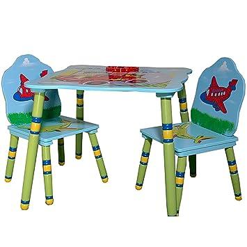 Kindertisch Mit 2 Stühlen Holz Kindersitzgruppe Tisch Und Stühle