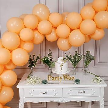 Amazon.com: PartyWoo - Globos de melocotón, 50 unidades ...
