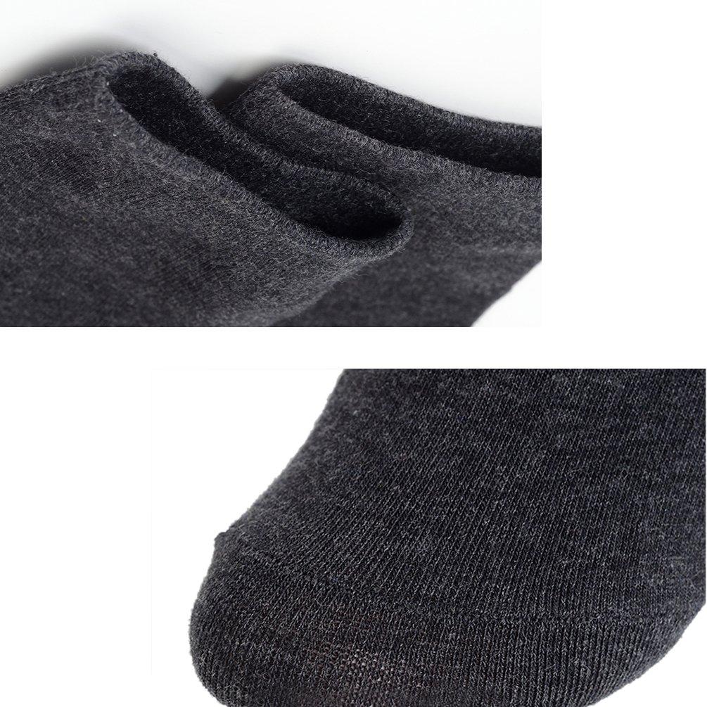ENJOYNIGHT Men's 5 Pack crew Socks Comfort Quarter Socks (5 Pack_5 Colors)