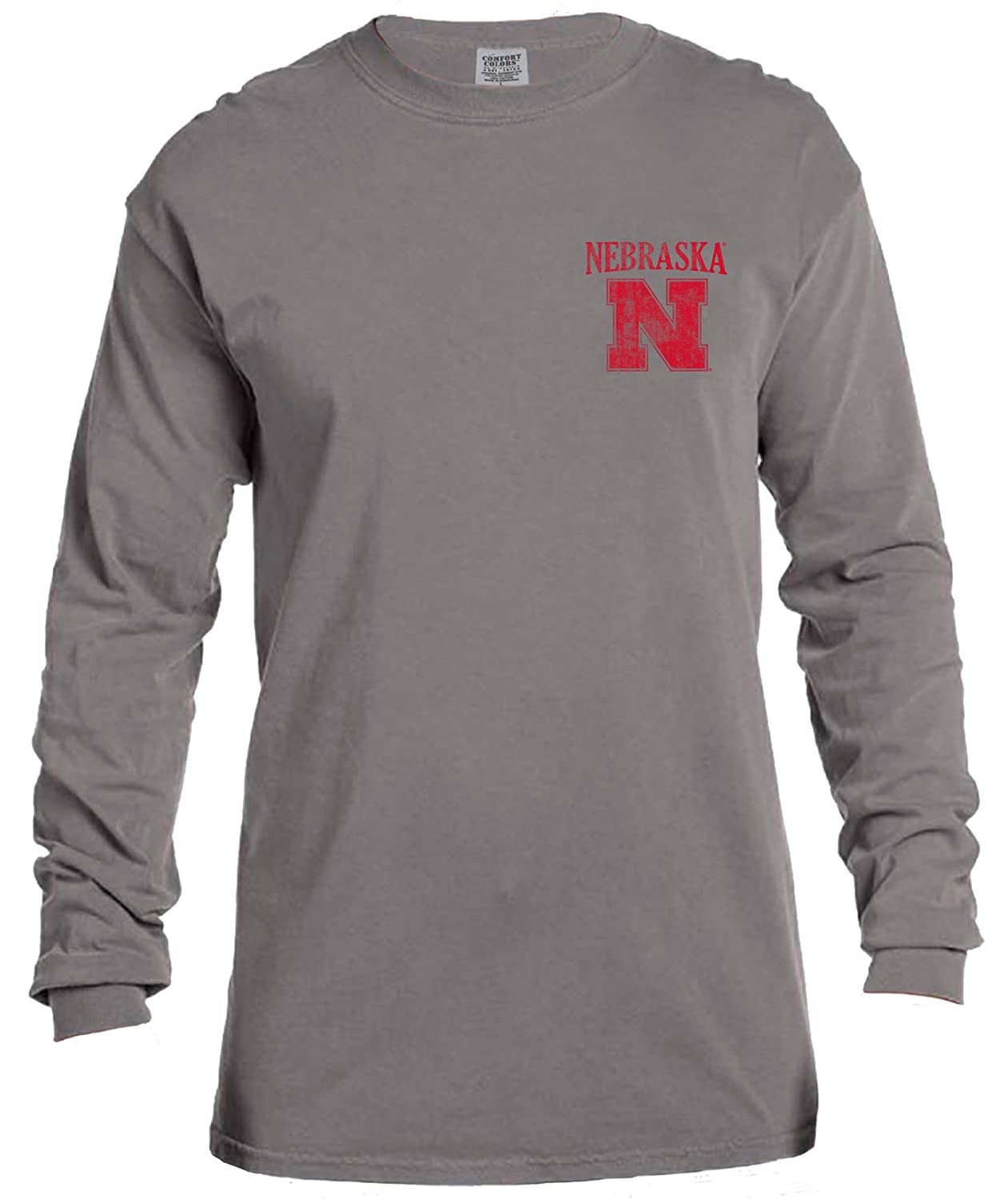 Image One Adult Unisexs NCAA Vintage Poster Long Sleeve Comfort Color Tee