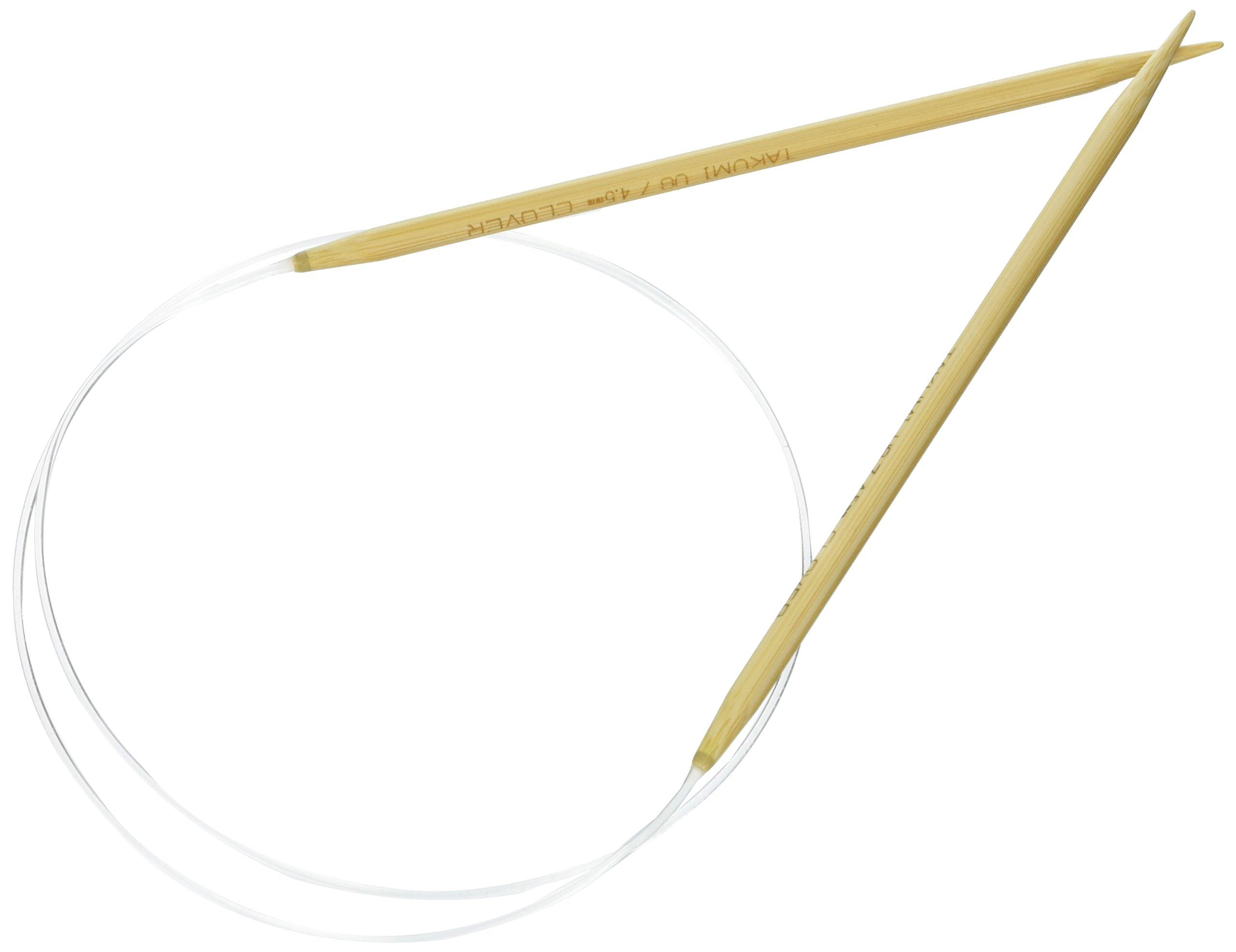 Aguja Circular Clover Takumi Bamboo 74cm  - 7