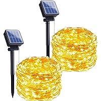 [2 Pack] Guirnaldas Luces Exterior Solar, Ventdest Luces Solares Exterior Jardín, 15m 150 LED Impermeable Luces…