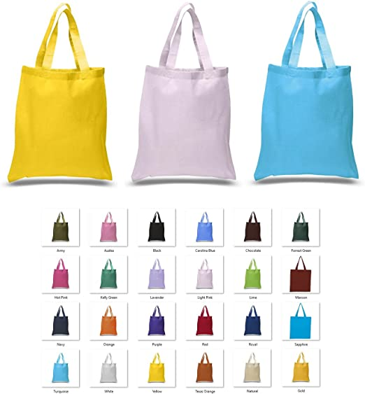 Amazon Com 12 Assorted Cotton Tote Bags 15 X 16 Standard Size