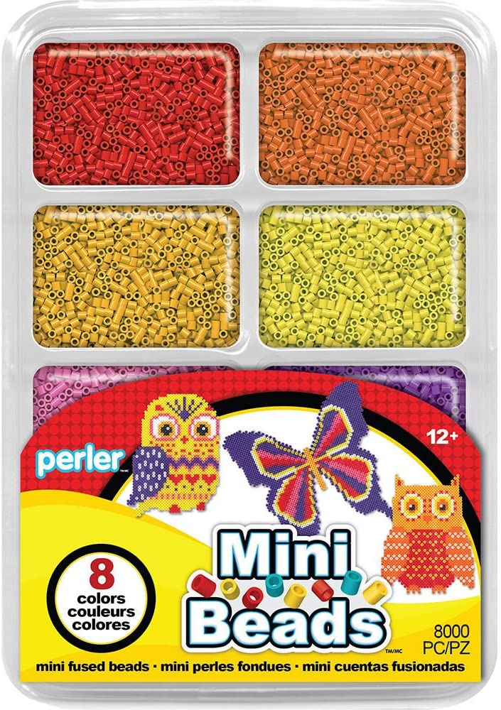 8000 pcs Perler Beads Warm Color Mini Beads Tray For Kids Crafts