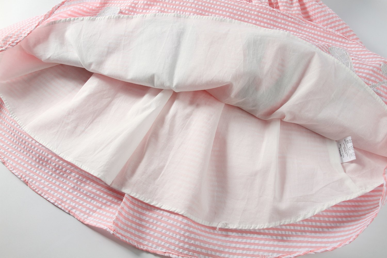 Sharequeen Striped Cotton Big Girls Summer Dress Dog Bird Cat Embroidery Pink Color A090(Pink Stripe, 6 Years) by Sharequeen (Image #5)