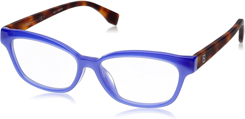 FENDI Brillengestelle FF 0046/F MHW/15-53-15-140 Monturas de gafas, Azul (Blau), 53.0 para Mujer