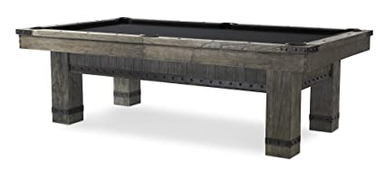 Plank U0026 Hide Morse 8 Ft Billiards Pool Table   Barnwood Elm