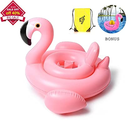 Whiteleopard Baby Pool Float, Flamingo Inflatable Rafts Swim Ring Swimming  Pool Toys For Kids