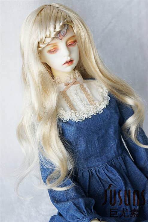 3 Colors 8-9 inch Doll Hair 1//3 Slight Lady Curly Synthetic Mohair BJD Wigs