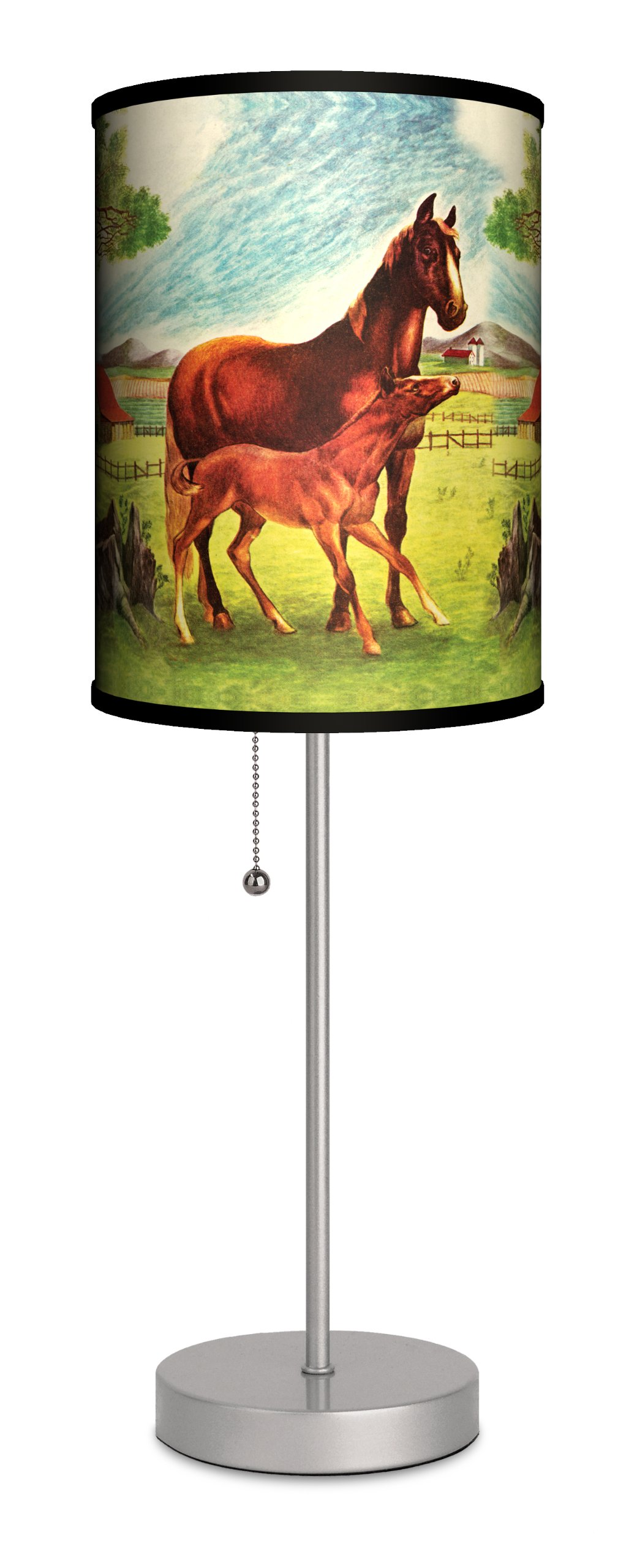 Saturday Evening Post - Jack n' Jill Horses Sport Silver Lamp
