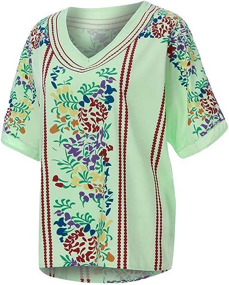 MOTOCO Camiseta de Mujer Top Llano Étnico Crochet Bohemio ...