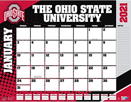 Ohio University 2021-22 Calendar Amazon.: TURNER Sports Ohio State Buckeyes 2021 22X17 Desk