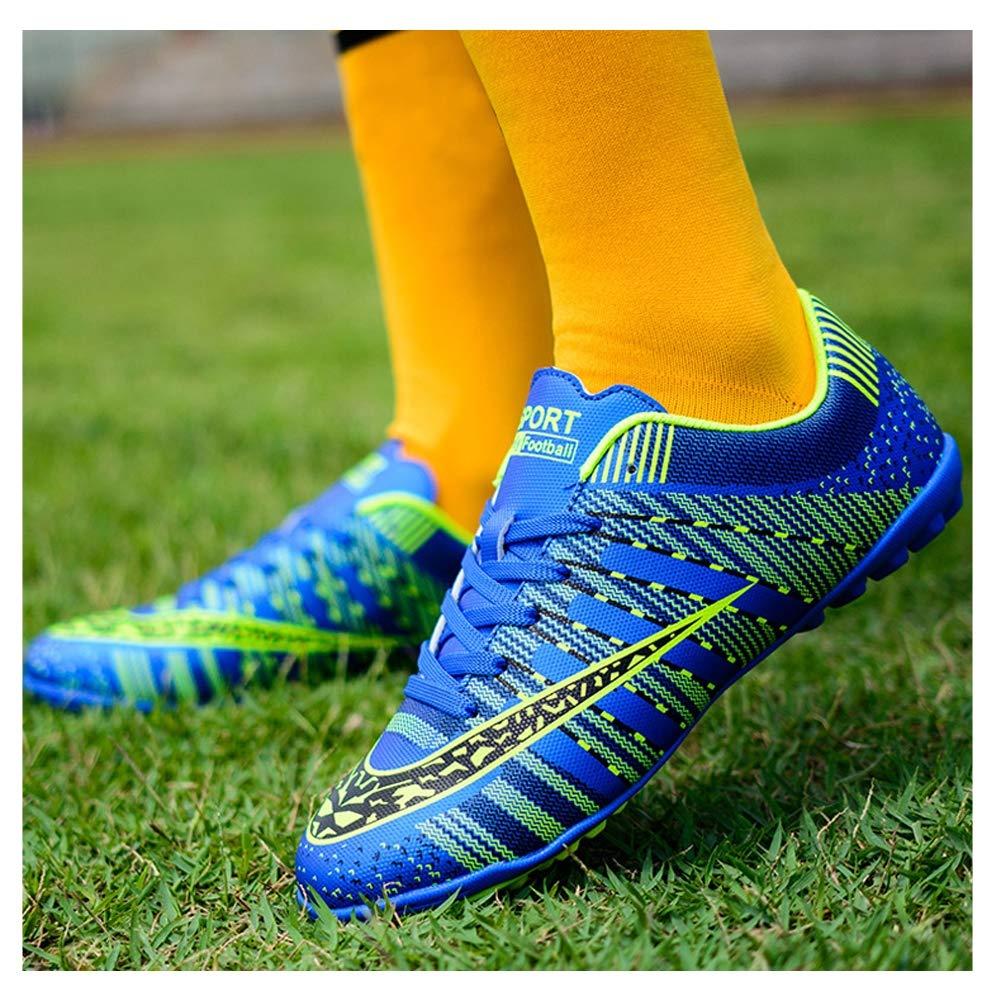 Scarpe Da Allenamento Per Calzature Da Calcio Uomo Teenager Calzature Da Sportivo Allaperto,Scarpe Da Calcio Professionale Uomo New 2019,Black Blue 4 Color 33-44 EU