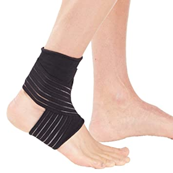 Elastic Ankle Wrap Support Foot Compression Wrap Bandage Ankle Brace Running  Ankle Sprain Men Women Nonslip Arthritis Ankle Wrap Bandage Pain Relief  Ankle ... 4015dfa925