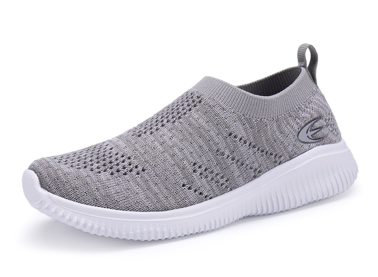 Leader shoes Kids' Slip-On Shoes Boys and Girls Lightweight Breathable Walking Sneakers (1, Grey)