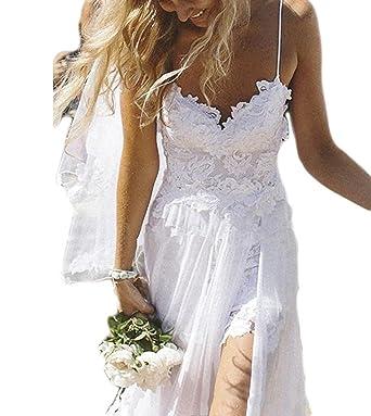 Fishlove Sexy Vestido De Novia Spaghetti Straps Beach Chiffon Lace Bridal Wedding Dresses W52