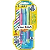 Paper Mate InkJoy Quatro Retractable Ballpoint, Medium Point, Assorted Fun Colours, 2 + 1 Pack