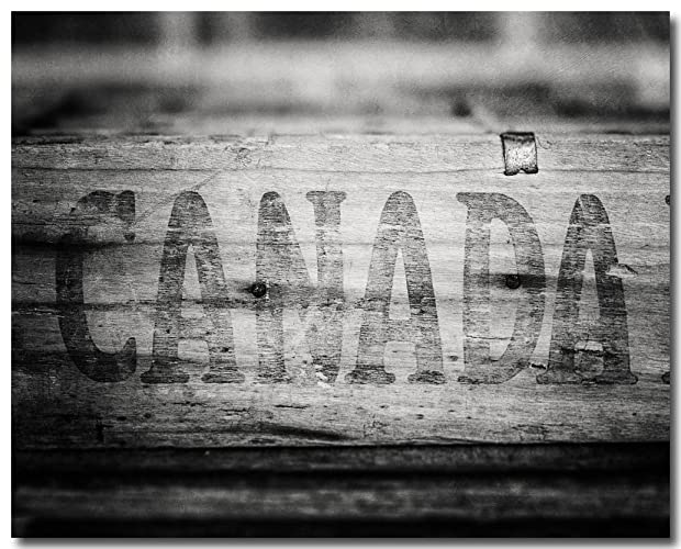 amazon com black and white canada art rustic canadian decor