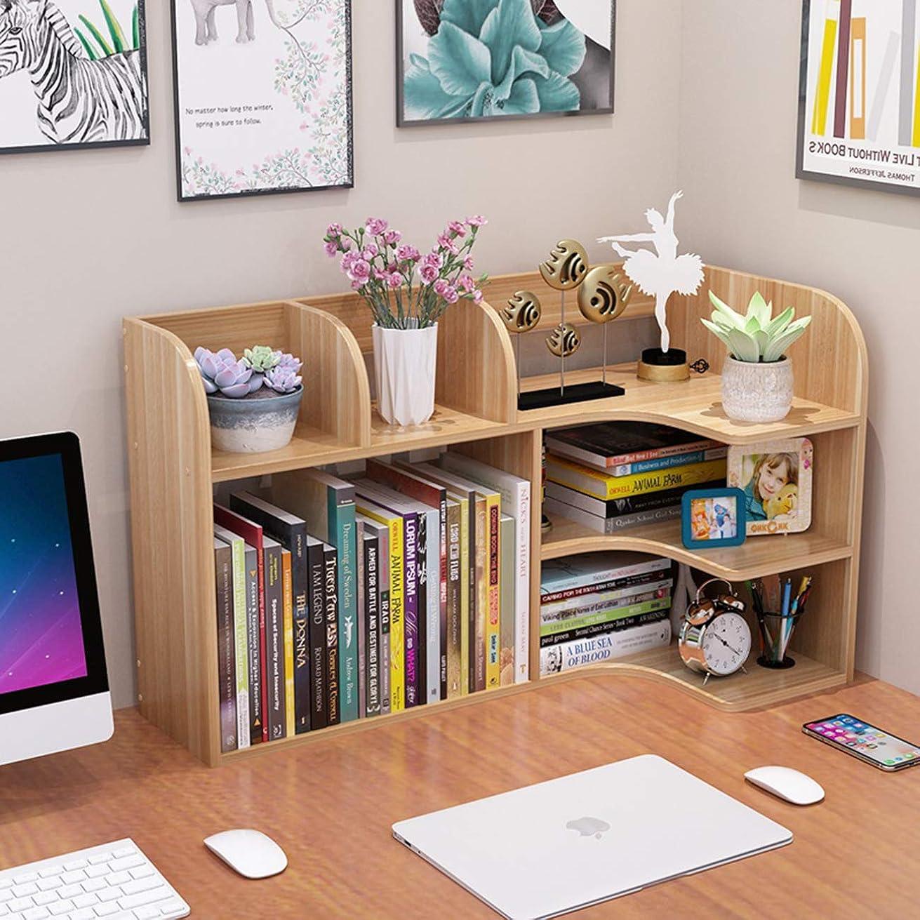 学生最大殉教者Sweet+ 木製 デスク オーガナイザー 書類整理 卓上収納 ラック ファイルスタンド オフィス 本立て 引き出し付き (ナチュラル)
