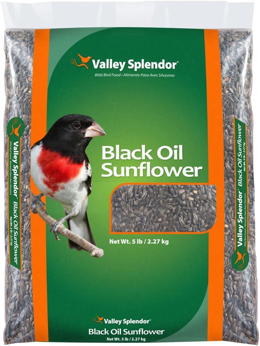 Valley Splendor Black Oil Sunflower Seeds, 5 lbs