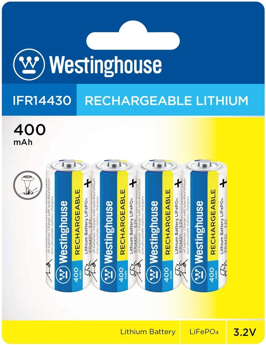 Westinghouse IFR AA Lithium Iron Phoshate LiFePO4 Solar Rechargeable Battery 8