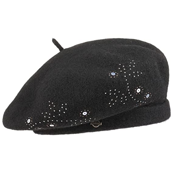 b27ede5d1 Seeberger Sequin Milled Wool Beret Women´s (One Size - Black ...