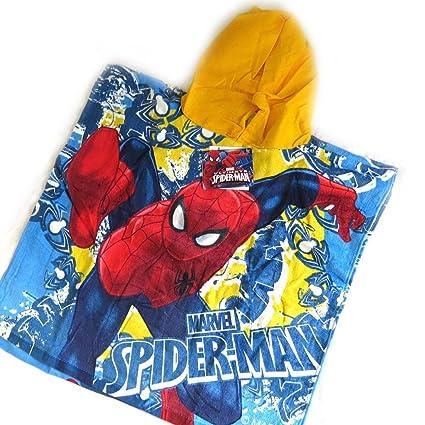 Poncho albornoz niño Spiderman(traje de baño).: Amazon.es ...