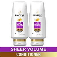 Pantene, Sulfate Free Conditioner, Pro-V Sheer Volume for Fine Hair, 24 fl oz, Twin...