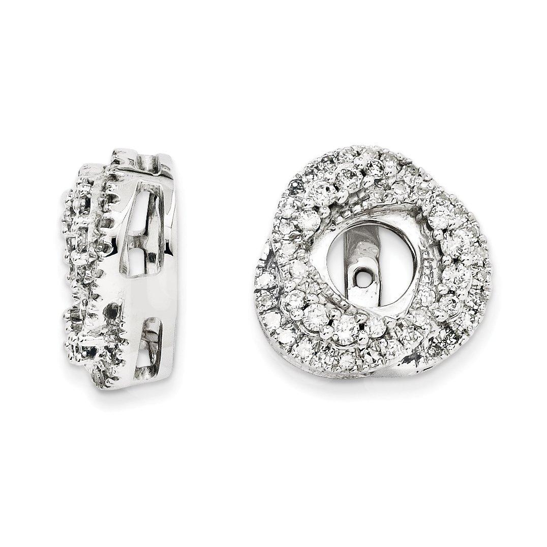ICE CARATS 14k White Gold Diamond Jacket Earrings Fine Jewelry Gift Set For Women Heart