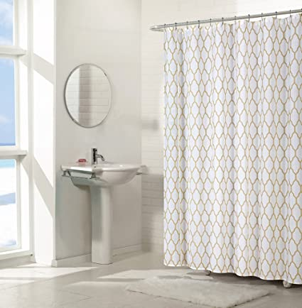 Amazon.com: Regal Home Collections Aria Trellis Chic Fabric Shower ...