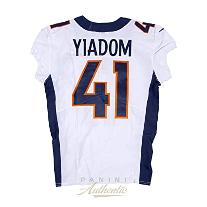 39bd908a Isaac Yiadom Game Worn Denver Broncos Jersey/Pant Set From 9/23/18 ...