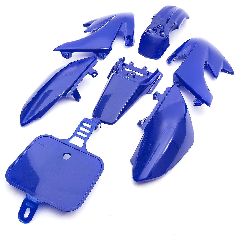 Pitbike CRF50 Frame Plastics Set In Blue Fits 50cc 110cc 125cc CRF 50 Blue Number Board