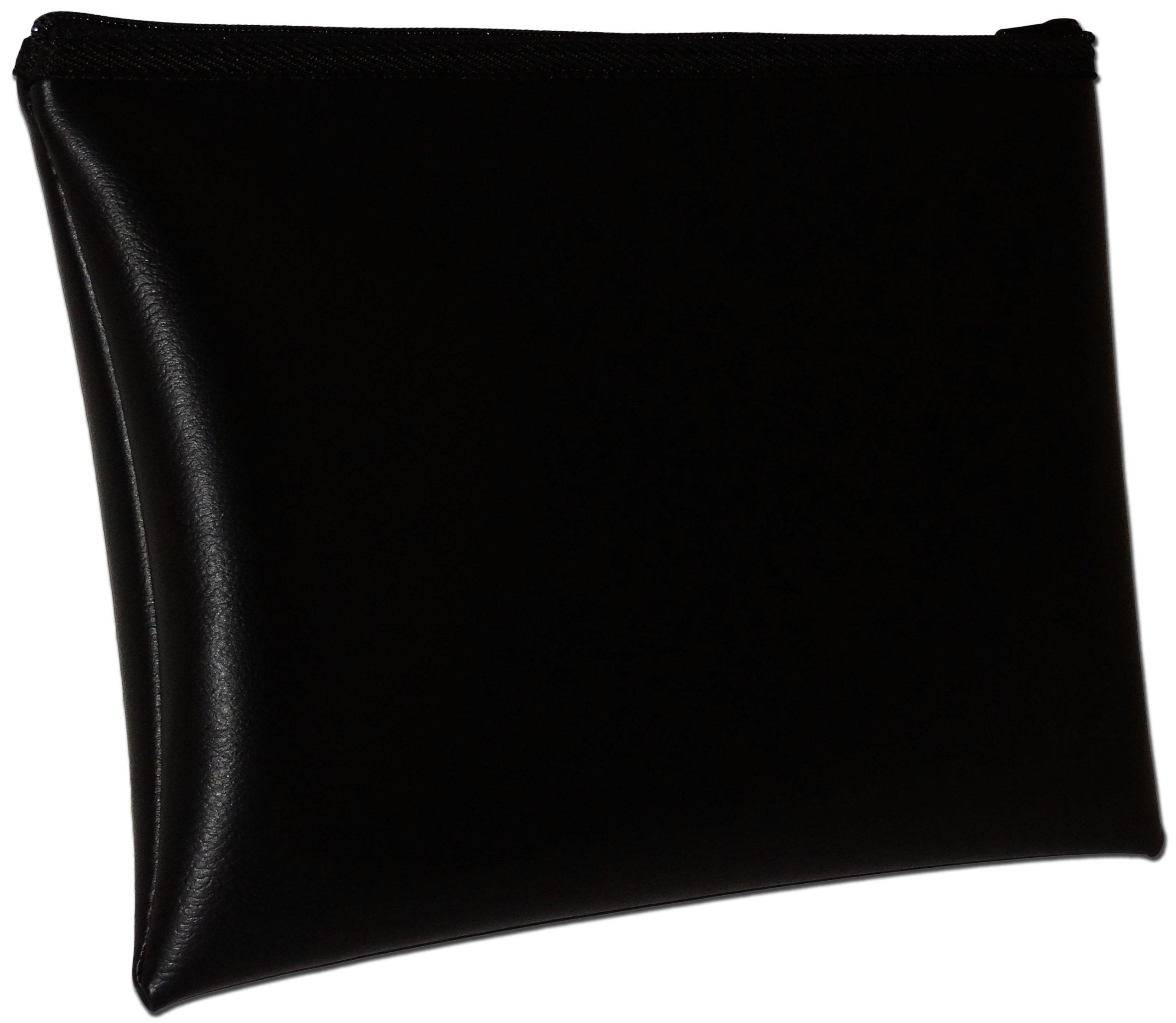 MDM Security Bank Deposit / Utility Zipper, Coin Bag, 16x12 Inches/Black Money Bag.