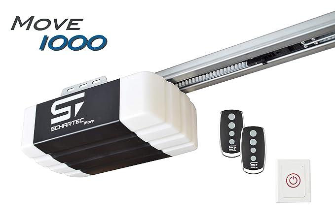 Schartec Move 1000 Garagentorantrieb Serie 2 Set inkl. 2 Handsender und Schiene - elektrischer Torantrieb - Garagentoröffner