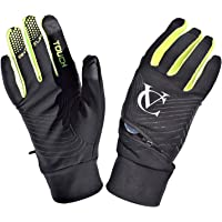 Autumn Windproof Touch Screen Anti Slip Grip Gloves with Zip Pocket for Small Item Storage. Suitable for Running…