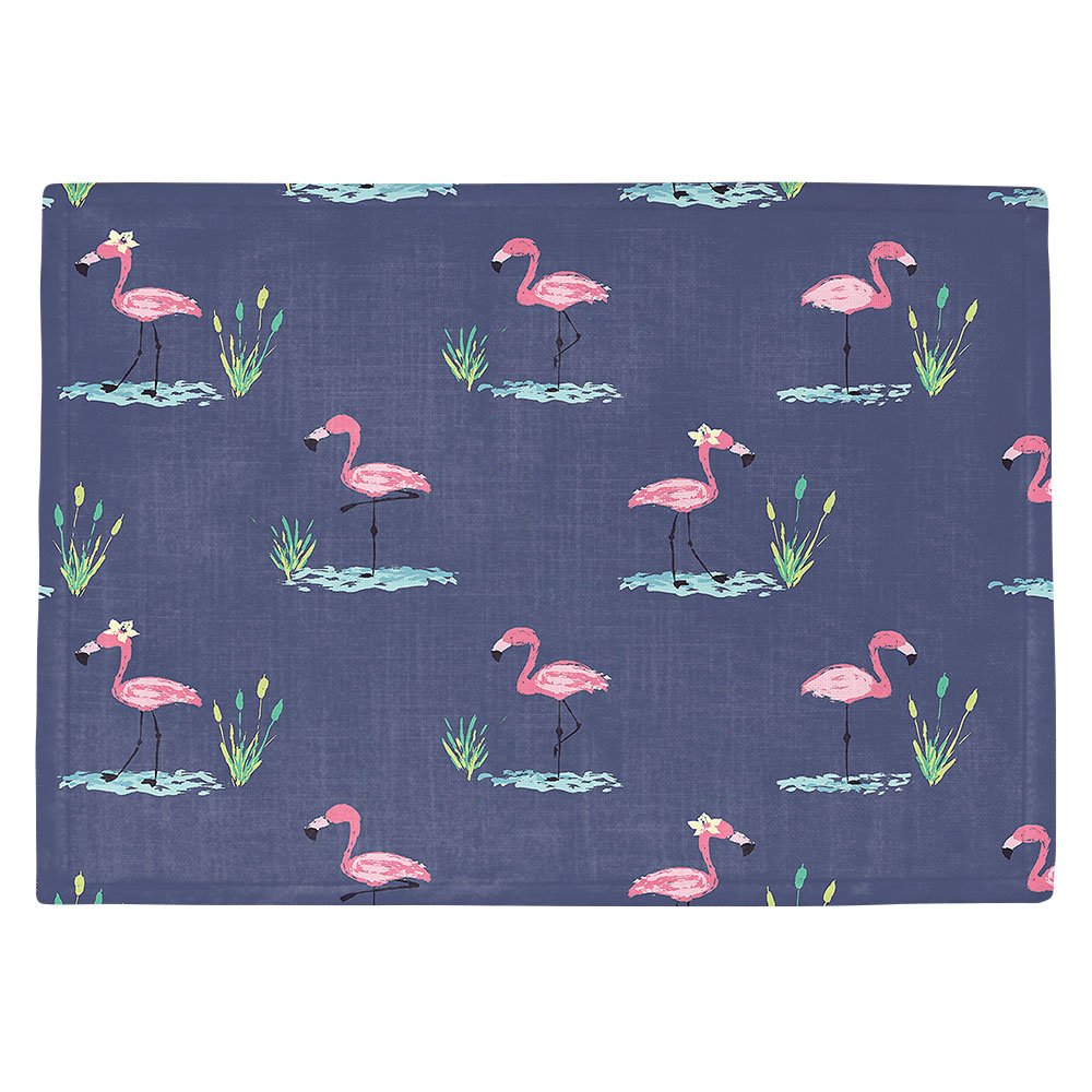DIANOCHEキッチンPlaceマットby Artist Metka Hiti – Flamingo LL Set of 4 Placemats PM-MetkaHitiFlamingoll2 Set of 4 Placemats  B01MRHG60S