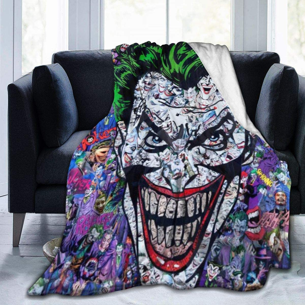 The Joker 3D Digita Print Throw Blanket Plush Sofa Bed Fleece Blanket Fans Gifts