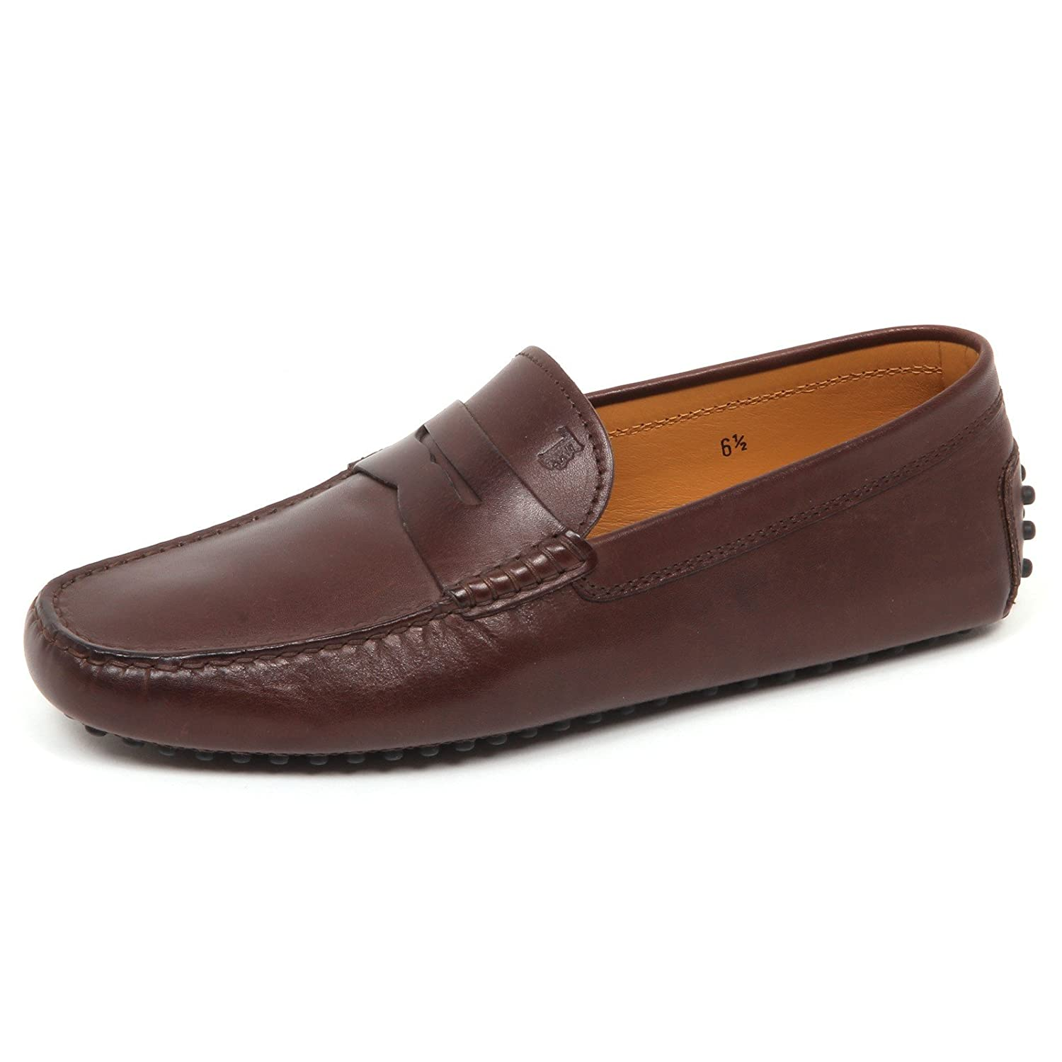 E2786 Mocassino uomo Brown Tod's Scarpe Loafer Shoe Man 11|Marrone