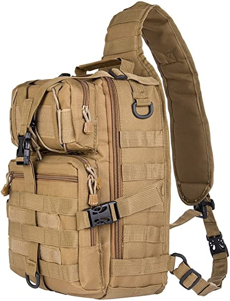 Hika 20L Small Tactical MOLLE Sling Pack - Compact and Versatile - Shoulder Pack, Backpack, Chest Pack, or Hand Carry - Military Assault Style Rucksack: Amazon.es: Deportes y aire libre