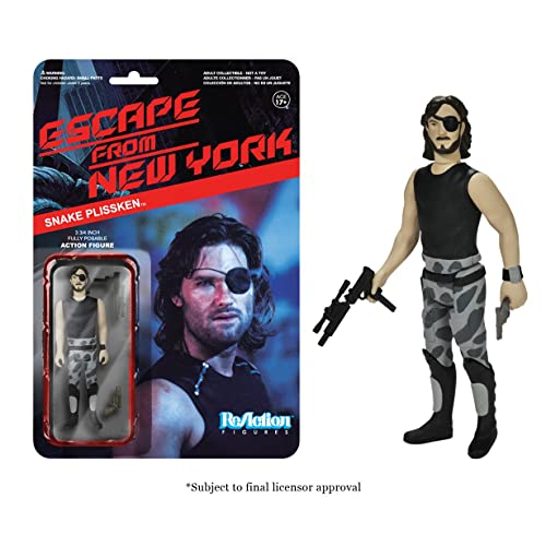 [Import Anglais]Funko Escape from New York Snake Plissken ReAction 3 3/4-Inch Retro Action Figure