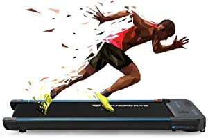 Treadmills for Home Under Desk Treadmill Portable Walking Pad,440W Motor,Bluetooth Built-in Speakers, Adjustable Speed, LCD Screen & Calorie Counter, Ultra Thin and Silent, Intended for Home/Office