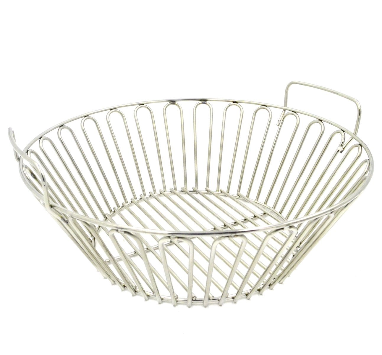 RunTo 13.5 inch Charcoal Ash Basket Fits for Large Big Green Egg Grill, Kamado Joe Classic, Pit Boss, Louisiana Grills,Primo Kamado Grill and other Grills