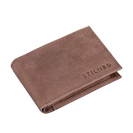 STILORD Lincoln Monedero Mini Billetera Cuero RFID NFC ...